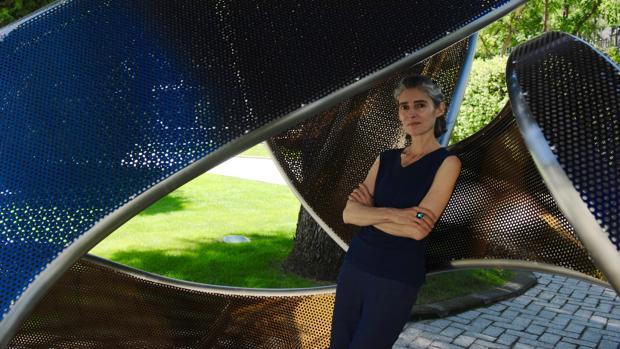 La artista Blanca Muñoz