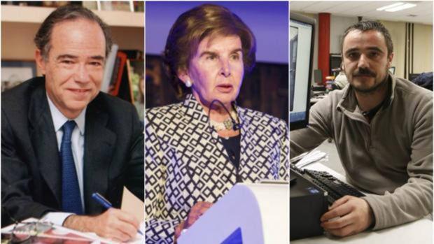 De izquierda a derecha, Gregorio Marañón y Bertrán de Lis, Pilar de Yarza Mompeón y Jesús Fernández Salvadores