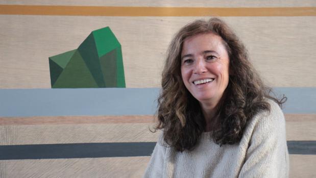La artista Montse Gómez Osuna en su estudio