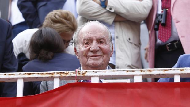 Don Juan Carlos, en una tarde de toros este año en Las Ventas