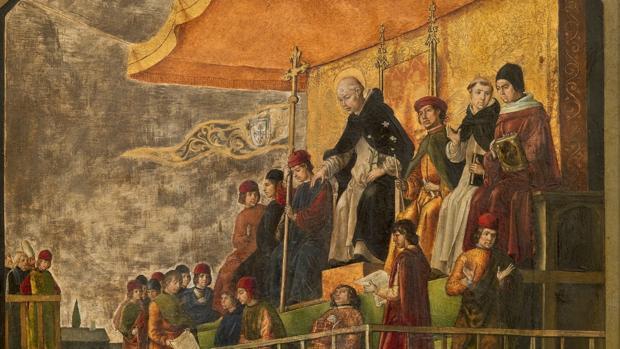 «Auto de fe presidido por Santo Domingo de Guzmán», de Pedro Berruguete