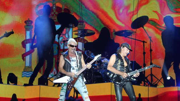 Scorpions, el viernes durante su actuación en Madrid