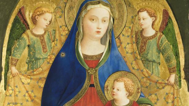 Fragmento de «La Virgen y el Niño con cuatro ángeles», (h. 1417 - 1419), de Fra Angélico