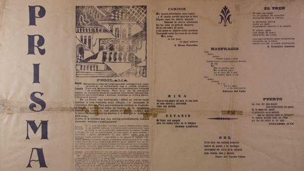 Reproducción de la revista «Prisma» que Borges dedicó a Macedonio Fernández