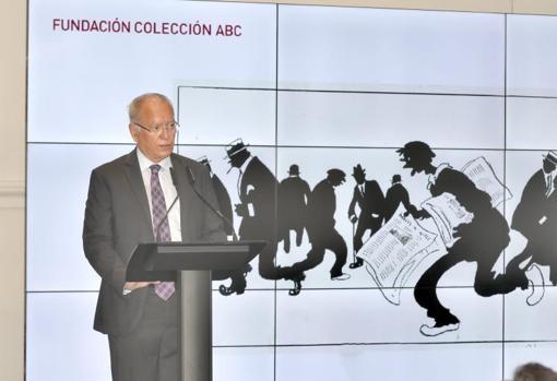 Álvaro Ybarra en un momento de su discurso