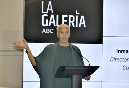 Inmaculada Corcho durante su intervención