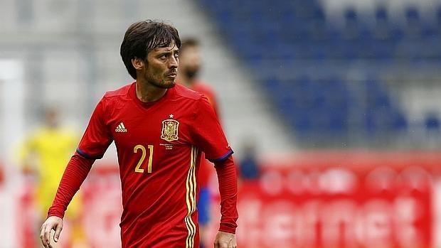 David Silva durante el partido contra Corea del Sur