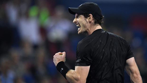 Murray, durante la final de Shanghái contra Bautista