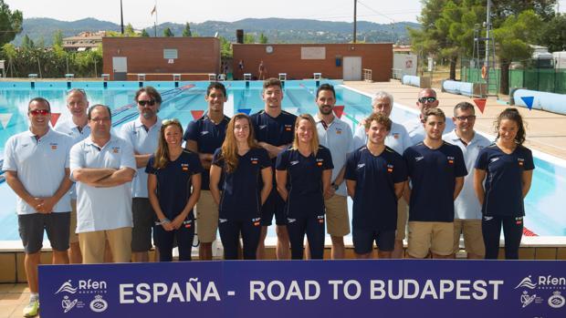 El equipo español de natación que compite esta semana en el Mundial de Budapest