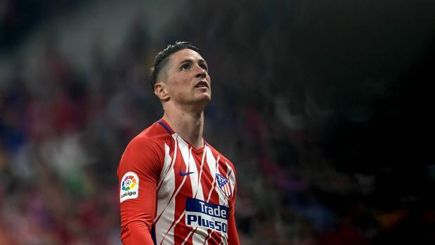 Fernando Torres durante el partido contra el Arsenal