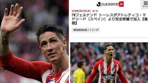 La web de la Liga japonesa adelantó el fichaje de Fernando Torres