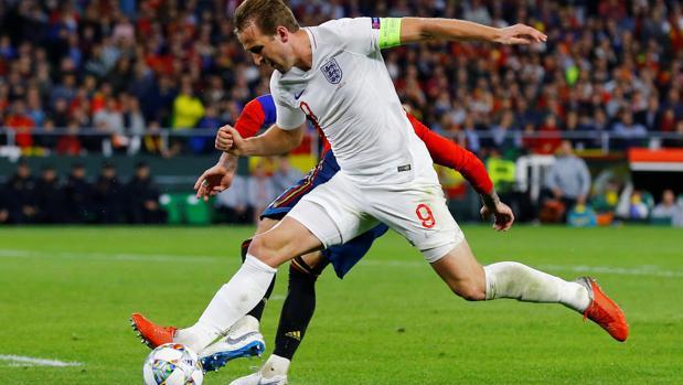 Harry Kane, durante el España-Inglaterra jugado en el Villamarín