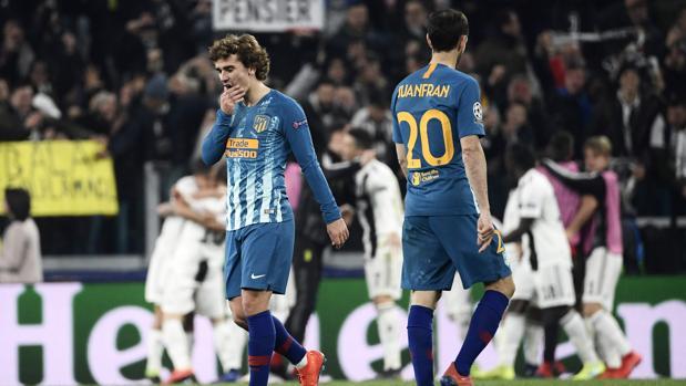 Griezmann y Juanfran, desolados tras la derrota