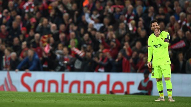 Messi fue insuficiente ante el Liverpool