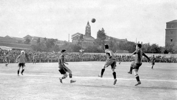 Final de la Copa de 1919 entre el Arenas y el Barcelona, en la que el equipo vizcaíno salió campeón