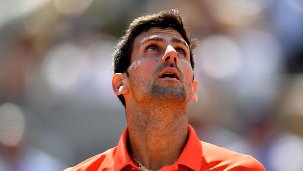 Novak Djokovic, en su duelo ante Zverev