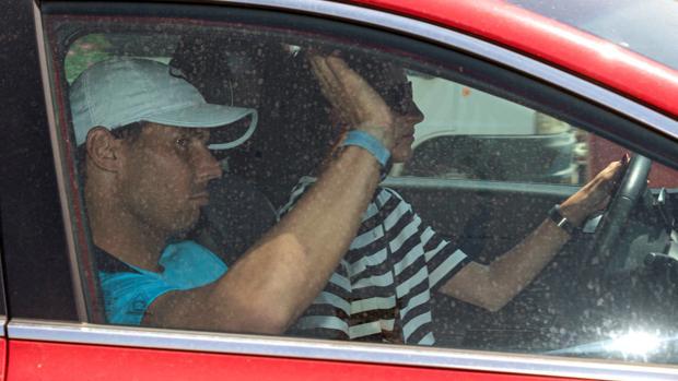 Rafael Nadal, a su llegada el pasado lunes a Palma de Mallorca