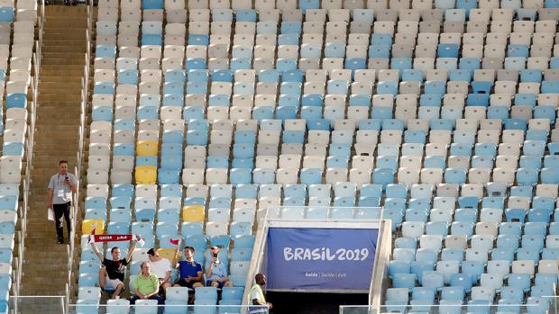 Estadio Maracaná durante el partido entre Catar y Paraguay correspondiente a la primera jornada de la competición