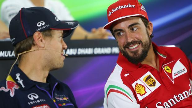 Vettel y Alonso, cuando estaban en Red Bull y Ferrari