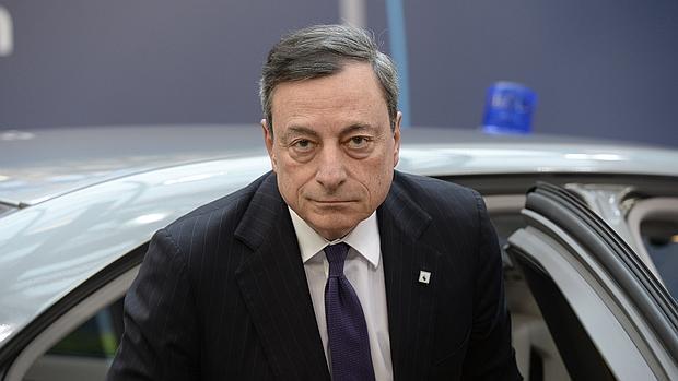 Mario Draghi, a su llegada a la cumbre de jefes de Estado de la UE