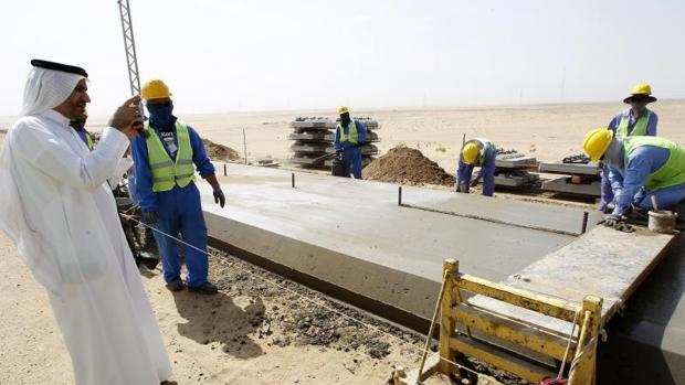 Obras de construcción del AVE a La Meca