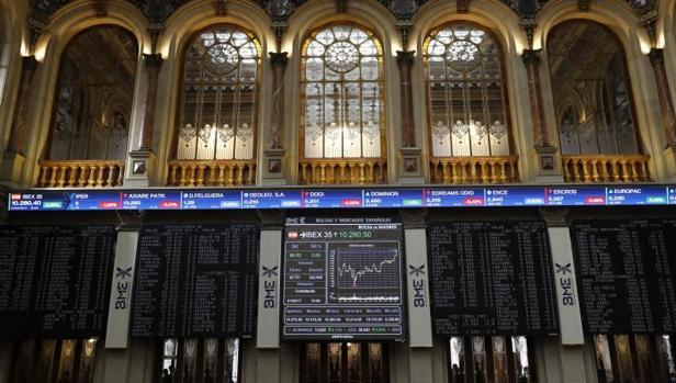 Interior de la Bolsa española