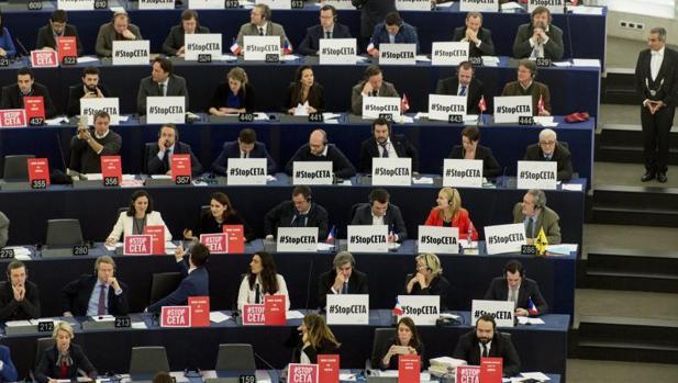Votación del CETA en el Parlamento Europeo el pasado febrero