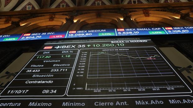 El Ibex, principal indicador de la Bolsa española