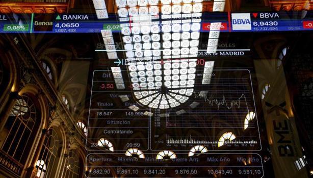 Interior del edificio de la Bolsa