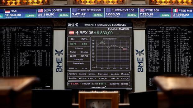Las caídas de la banca tienen un efecto arrastre en el Ibex por su elevado peso en el selectivo