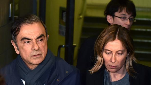 Carlos Ghosn y su mujer, Carole