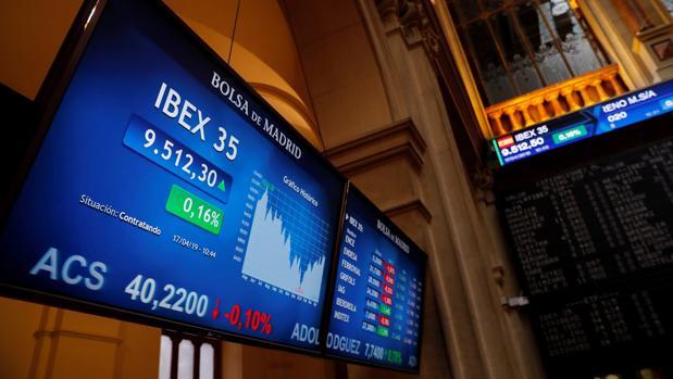 Imagen de archivo de la Bolsa de Madrid