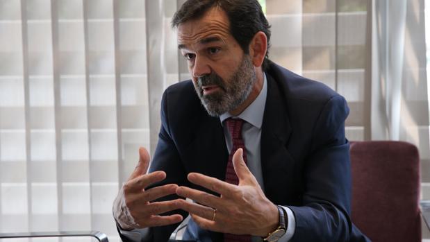 Juan Fernández-Aceytuno, consejero delegado de Sociedad de Tasación, durante la entrevista con ABC