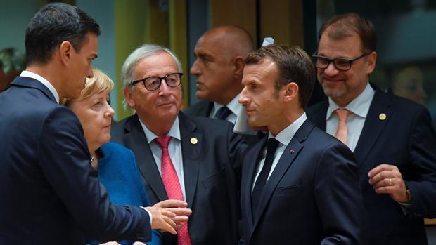 Los principales líderes europeos en una reunión el pasado octubre