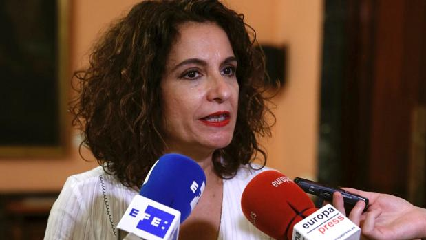 La ministra de Hacienda en funciones, María Jesús Montero, atendía este miércoles a los medios