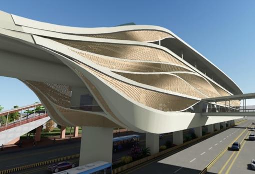 Recreación virtual del metro de Pune, en la India, cuya supervisión también se ha adjudicado Ayesa