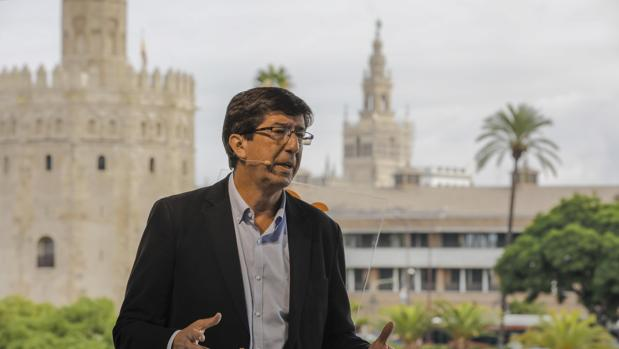 Juan Marín, candidato de Ciudadanos a la Presidencia de la Junta de Andalucía