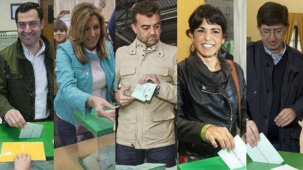 Candidatos ejerciendo su derecho al voto