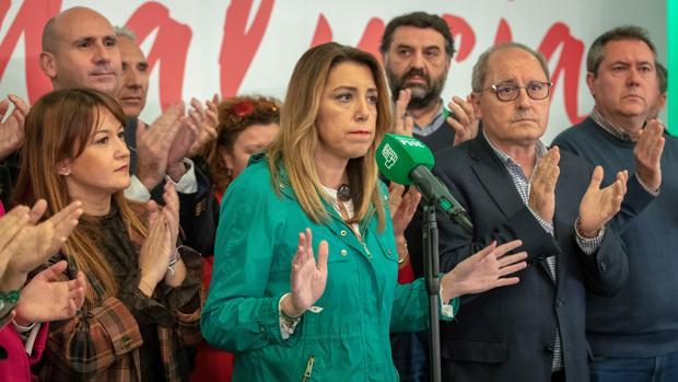 Susana Díaz tras conocer los resultados del escrutinio