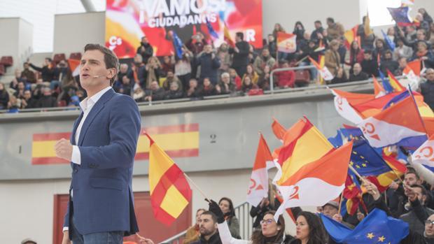 Mitin de Albert Rivera (Ciudadanos) en Madrid