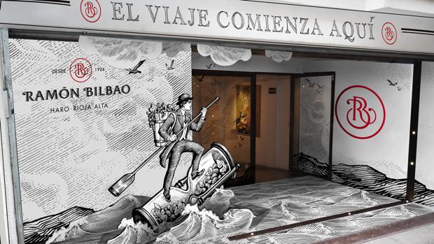 Pop Up de Ramón Bilbao en la calle Cervantes