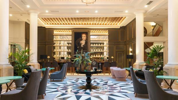 Lobby del hotel Eugenia de Montijo en Toledo