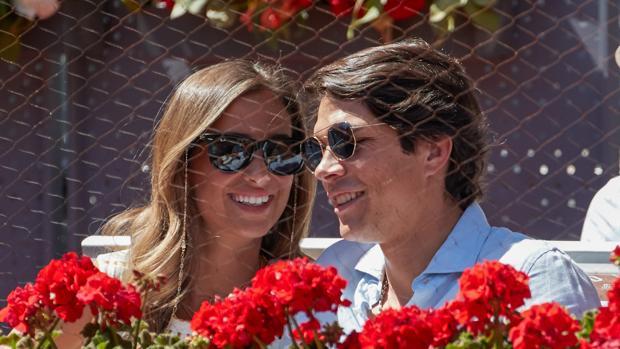 Maria Pombo y Pablo Castellano durante el Masters Series Madrid 2019 .