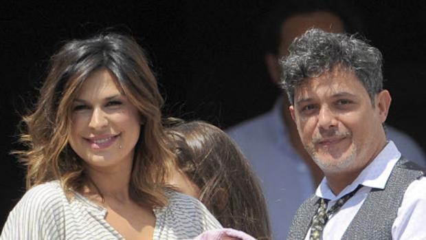 Alejandro Sanz y su mujer, Raquel Perera