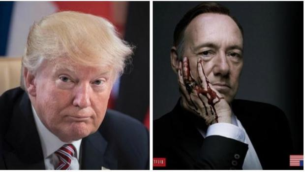 Donald Trump y Frank Underwood