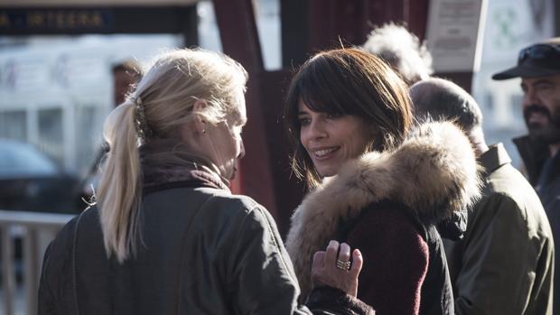 Maribel Verdú, durante el rodaje