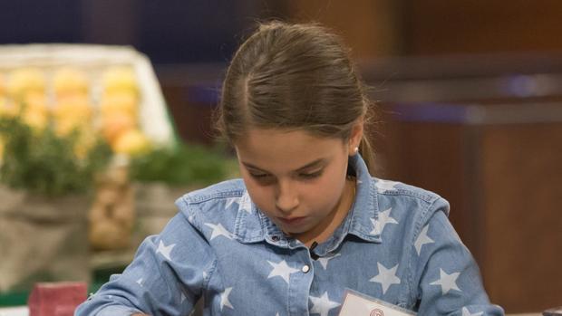 Esther, durante el concurso de «Masterchef Junior»