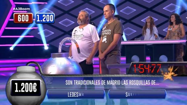 José y Erundino, en una de las rondas de «¡Boom!»