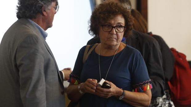 Carmen Caffarel, miembro del Comité de Expertos para la renovación del Consejo de Administración RTVE, tras una reunión en el Congreso