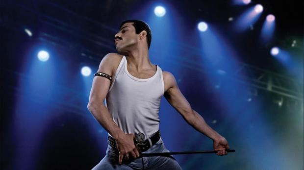 Escena de la película Bohemian Rhapsody, una de las nominadas a los Globos de Oro 2019